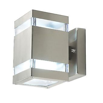 Muur lamp Amaru 4, 2-sash, hoekige, LED, IP44, 10142