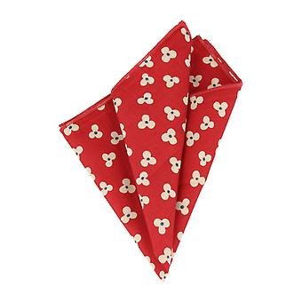 Snobbop handkerchief red white floral handkerchief Cavalier cloth