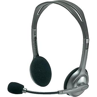 PC headset 3.5 mm jack Corded, Stereo Logitech Stereo Headset H110 On-ear Grey