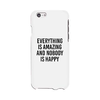 Nobody Happy White Slim Fit Cute Phone Cases For Apple, Samsung Galaxy, LG, HTC