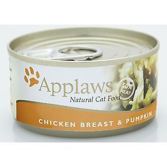 Applaws kat kan kylling & græskar 156g (Pack af 24)