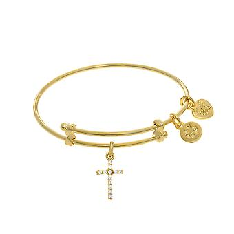 Cross Charm Adjustable Bangle Girls Bracelet