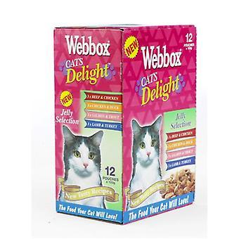 Webbox katte glæde poser Jelly udvalg 12x100g (pakke med 4)
