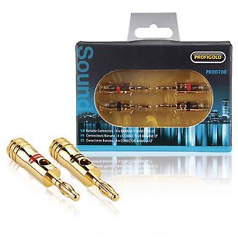 Profigold Banana Connector Male Metal