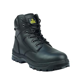 Amblers Steel FS84 Mens Safety Boots Textile Leather PU Lace Up Fastening Shoes