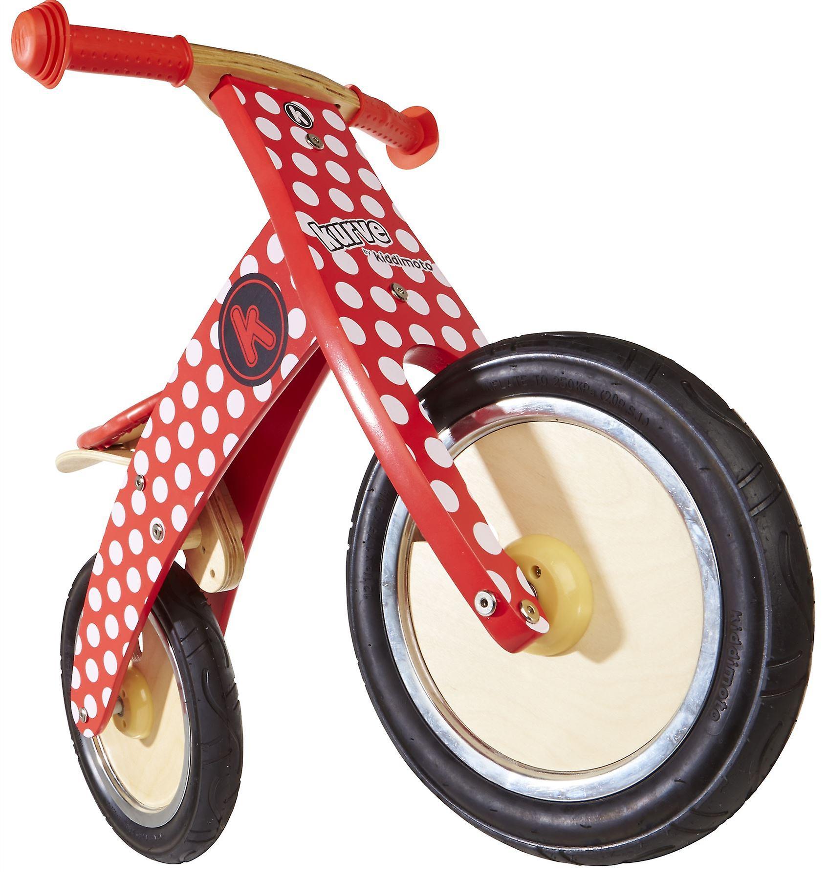 Kiddimoto Kurve- Bike Red Dotty