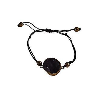 Minimalist natural stone statement bracelet purple