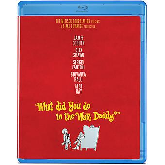 What Did You Do in the War Daddy [BLU-RAY] USA import