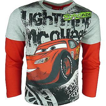 HO1099 Boys Disney Cars Lightning McQueen Long Sleeve Top