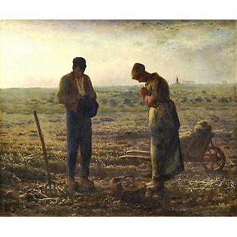 Jean Francois Millet - The Angelus L'Angelus Poster Print Giclee