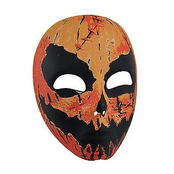 Creepy Pumpkin Man Adult Mask