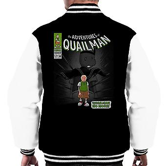 Quailman No More Doug Comic Superhero Men's Varsity Jacket