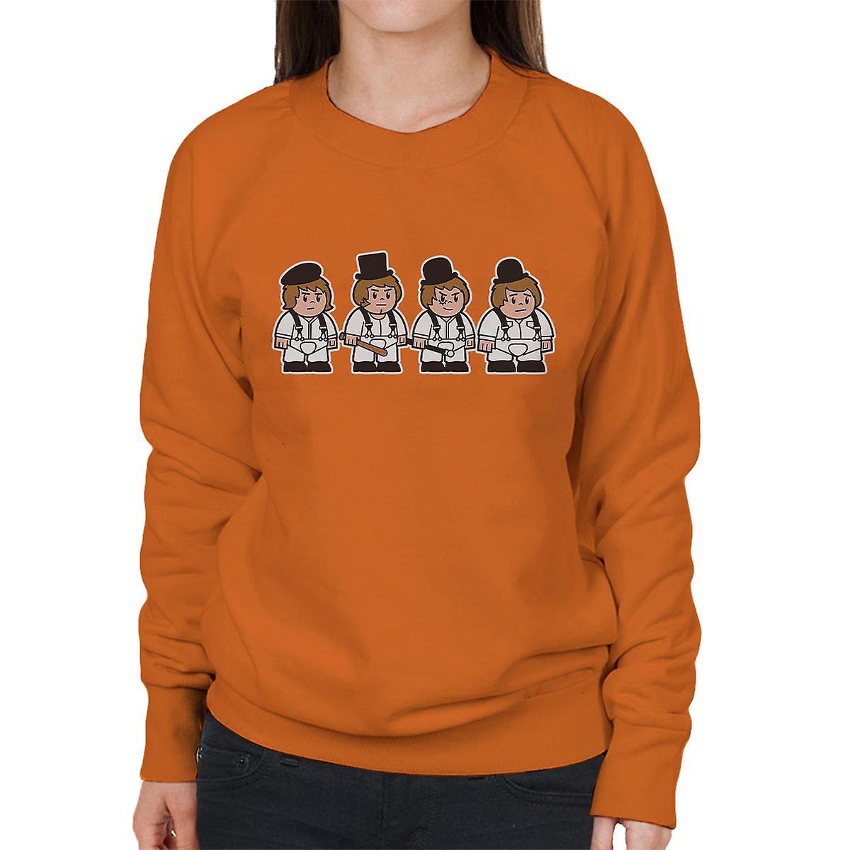 Mitesized Droogs A Clockwork Orange Damen Sweatshirt Fruugo