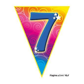 Party favors  Flagline '7' 5m