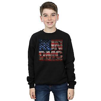 Run DMC Boys US Flag Logo Sweatshirt