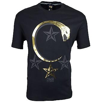 Cavalli Class Jersey Stretch Panther Black T-shirt