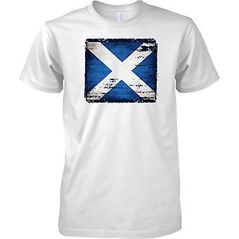 Schottische Andreaskreuz Flagge der Grunge-Effekt - Kinder T Shirt