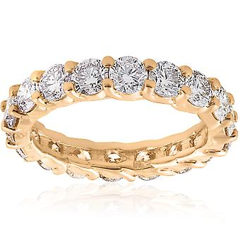 3 1/2 ct Diamond Eternity Ring 14k Yellow Gold