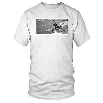 Surfer Surfing Beach B&W Kids T Shirt