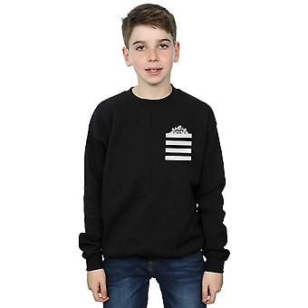 Looney Tunes Boys Taz Stripes Faux Pocket Sweatshirt