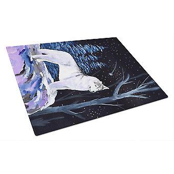 Carolines Schätze SS8400LCB Sternennacht Siberian Husky Glas Schneidebrett L