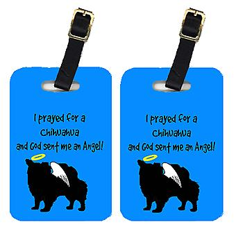 Carolines Treasures  AN1098BT Pair of 2 Chihuahua Luggage Tags