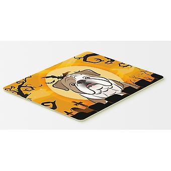 Halloween English Bulldog  Kitchen or Bath Mat 20x30