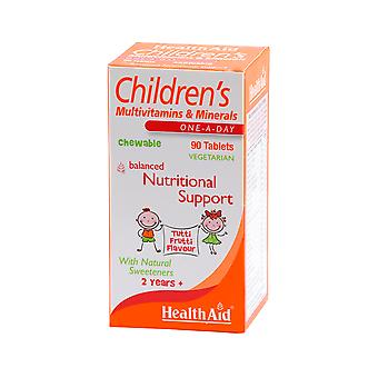 Health Aid Children's MultiVitamin + Minerals - Chewable (Tutti-fruity Flavour) ,  90 Tablets