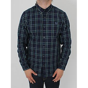 Fred Perry Fred Perry Enlarged Tartan Shirt - Navy