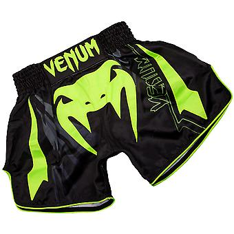 Venum シャープ 3.0 軽量ムエタイ タイ パンツ - ブラック/ネオ イエロー