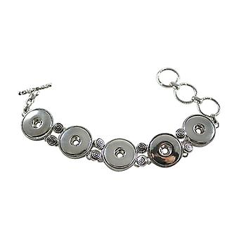 Stainless Steel Bracelet For Click Buttons Kb0188