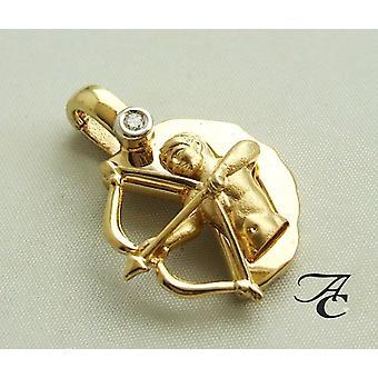 Sagittarius pendant with clip closure