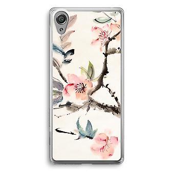 Sony Xperia XA1 Transparent Case - Japenese flowers
