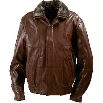 Durham Mens Leather Jacket With Fur