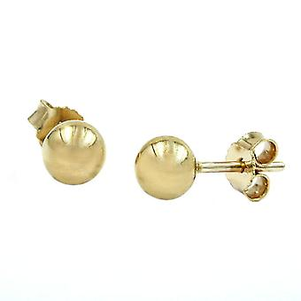 Stud Earrings Stud earrings ballen 5mm 9k goud