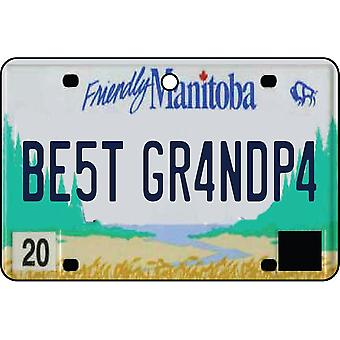 MANITOBA - Best Grandpa License Plate Car Air Freshener