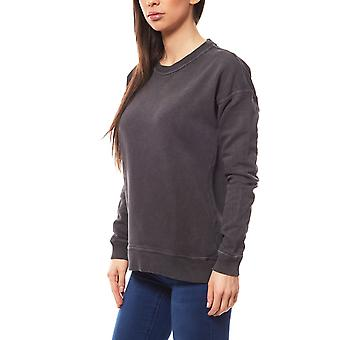 Noisy may asphalt ladies sweater grey in the simple style