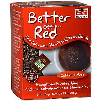 Now Foods Better Off Red Rooibos Tea 24 Tea Bags (Herbalist's , Infusions)