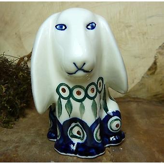 Hund, sitzend, 11 x 11 x 7,5 cm, Tradition 10- polish pottery - BSN 8009