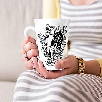 Kozie śmierć zwierząt czaszki Nowa Biała herbata kawa Latte ceramiczny kubek 17 oz   Wellcoda