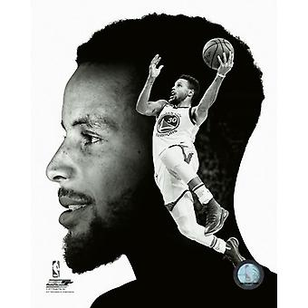 Stephen Curry profil Photo Print