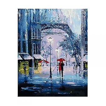 Artventura The Romance Of Rain Stretched Canvas Extra Large Paint By Numbers
