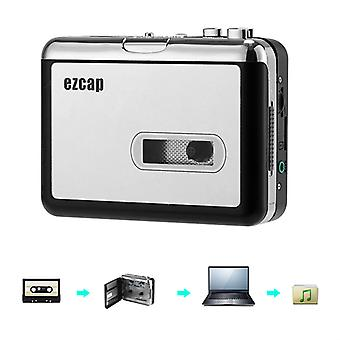 Cassette To MP3 Converter - No PC Required, 32GB SD Card Support, 3.5mm Audio Jack, Music Play Back, 2x AA Battery