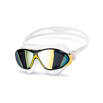 Head Horizon Swim Goggle - Mirrored Lens - Clear/Yellow/Black