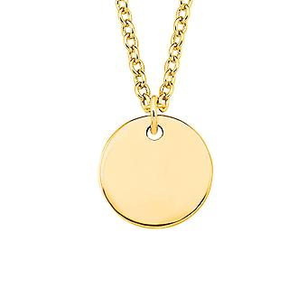 s.Oliver jewel ladies necklace gold SO PURE coin inscribable 2020066