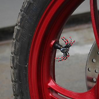 2 x funny motorcycle tire valve cap Cap Cap spider red Helloween