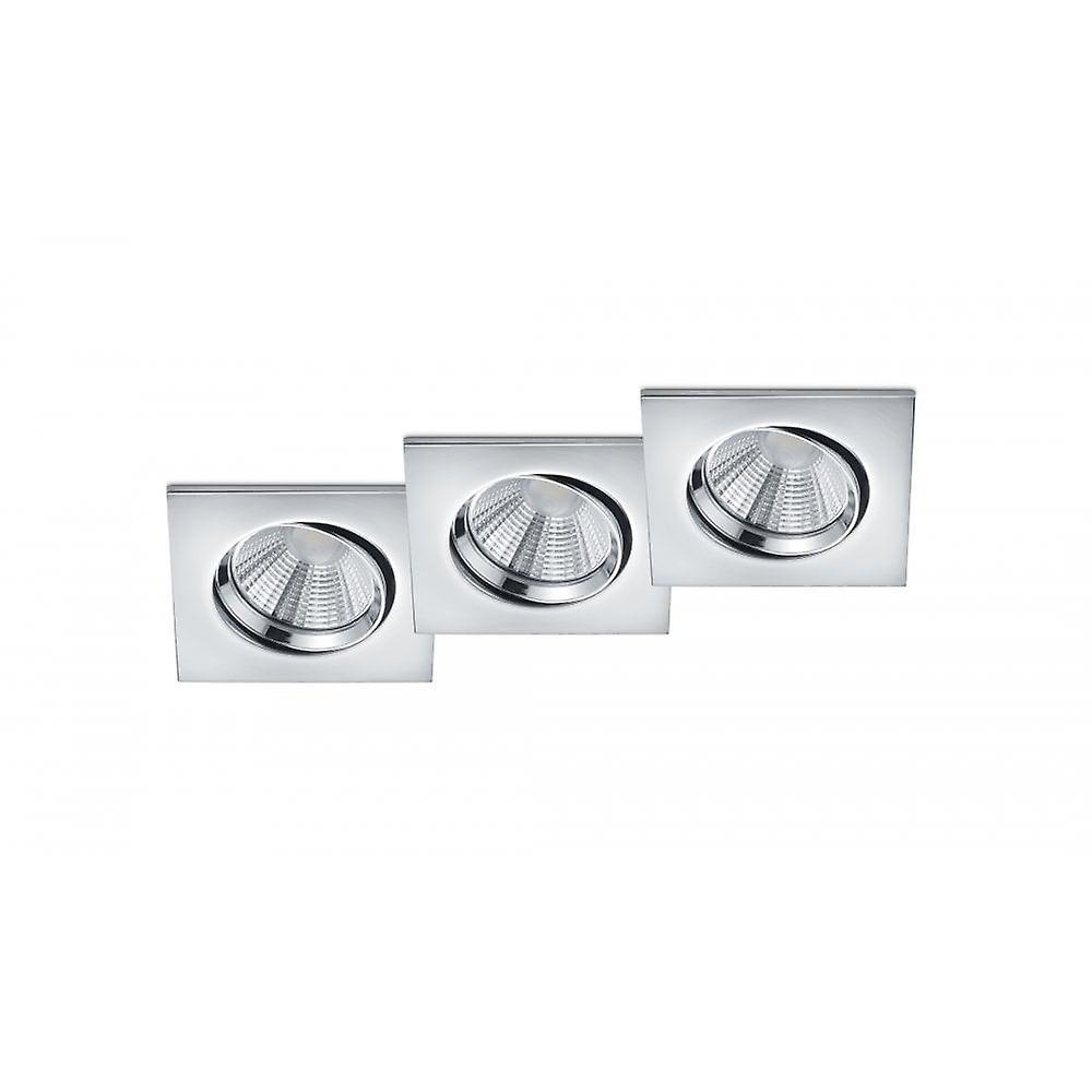 Trio lumièreing Pamir Modern Chrome Metal Ceiling Lamp