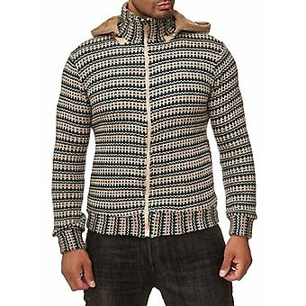TAZZIO men's sweater knit pullover teal