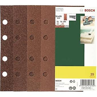Bosch Accessories 2607019495 Sander paper set Hook-and-loop-backed, Punched Grit size 60, 80, 120 (L x W) 185 mm x 93