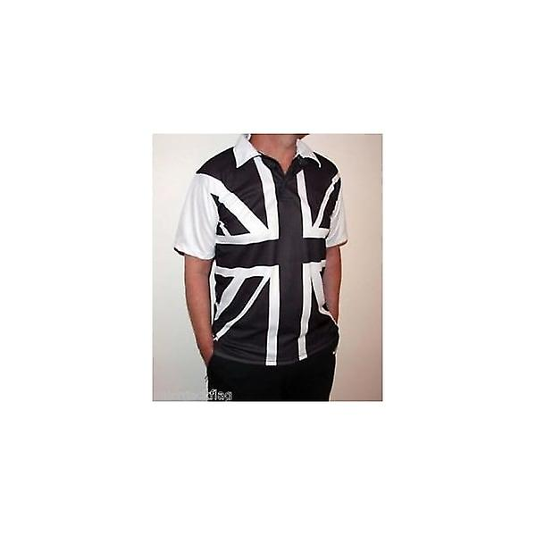 Union Jack Wear Black & White Union Jack Polo Shirt